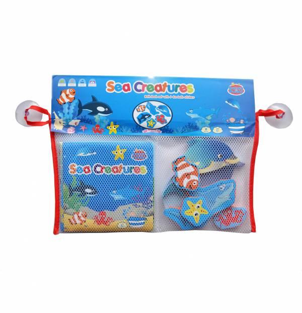 Bath Book & Stickers - Sea
