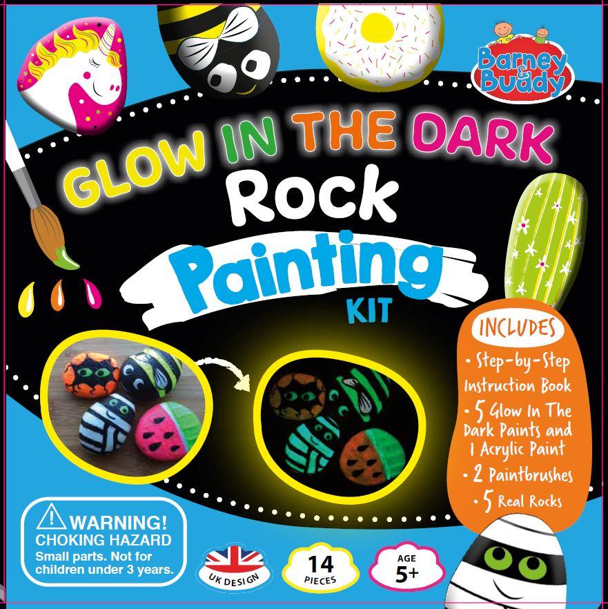 Glow In The Dark Rock Painting Kit Buddy Barney